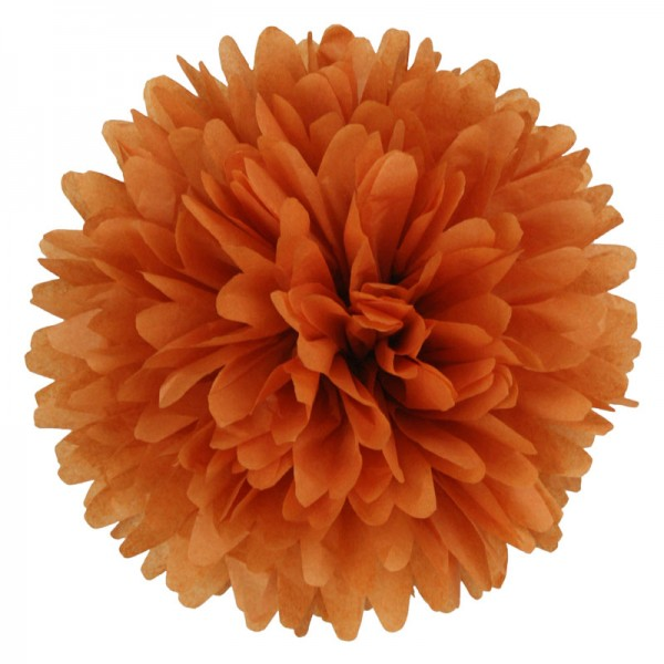 PomPom | burnt orange | dunkelorange